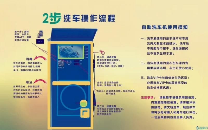 共享自助洗车机OEM代工生产招合作伙伴-- 深圳市小车便利汽车服务有限有司