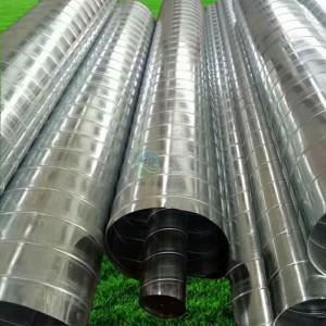 木工除尘器螺旋白铁皮镀锌弯头通风管道家具厂专用除尘设备配件