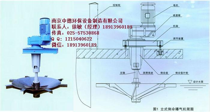 立式倒伞型表面曝气机简图02