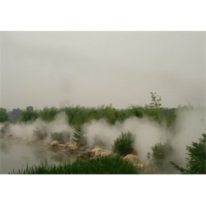 假山水池边冷雾人造雾系统企业生产