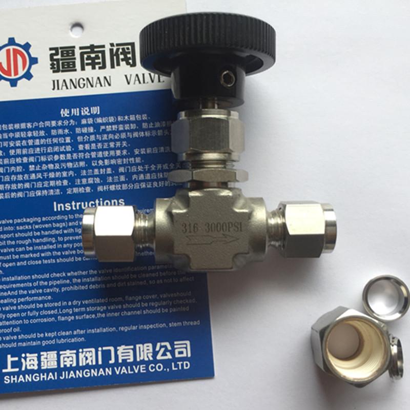 卡套针型阀 3/8英寸 不锈钢材质-- 上海疆南阀门有限公司