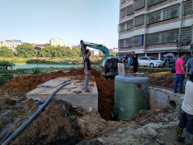 永州市政定购我司环保型一体化预制泵站-- 无锡浩润环保