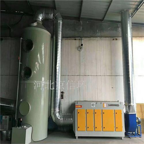 江西环保厂家喷漆房水喷淋净化塔废气过滤环保设备-- 河北京信环保设备有限公司