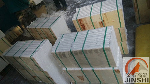 窑炉吊顶棉块陶瓷纤维模块专用节能施工材料-- 山东淄博金石高温耐火材料有限公司