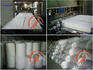双面针刺陶瓷纤维毯台车炉锅炉保温隔热硅酸铝保温毯-- 金石高温材料有限公司