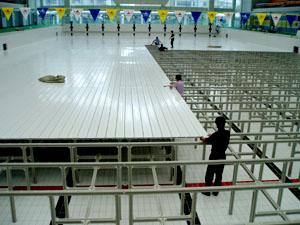 PVC游泳池垫层,游泳池沉箱专业厂家,游泳池增高层厂家