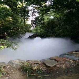 湖南常德桃花源古镇绿化带雾森造雾系统工程