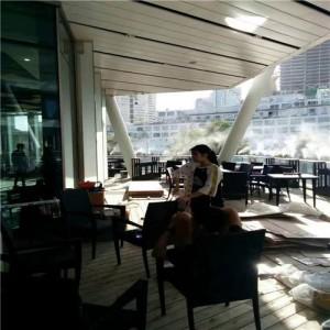 室外咖啡馆造雾造景降温设备厂家直销