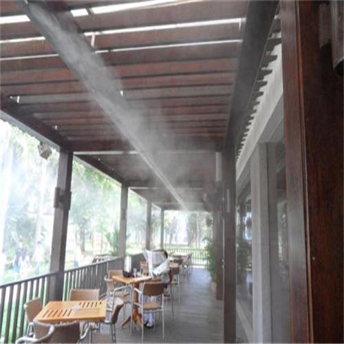 户外露天咖啡馆甜品店高压喷雾造景设备-- 深圳市通宝环境技术有限公司