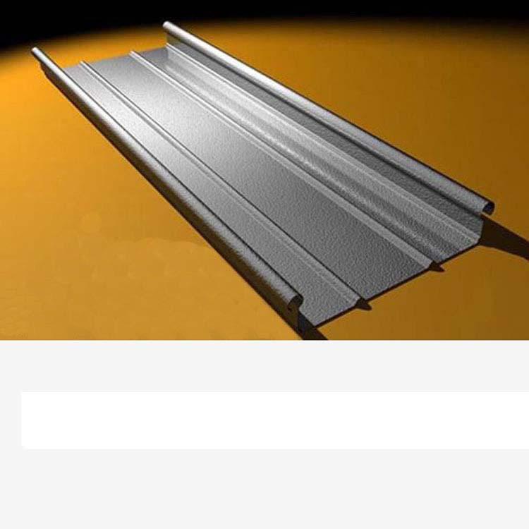 0.7厚深灰色氟碳漆铝镁锰金属屋面板330型 别墅屋面铝板-- 浙江金展钢品制造有限公司
