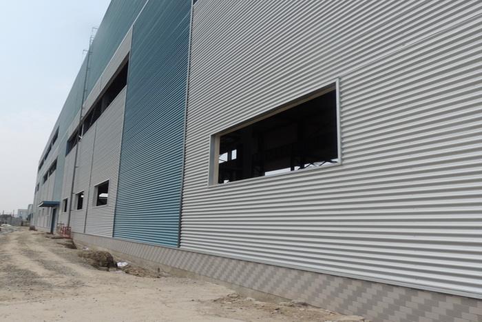 办公室工业厂房外墙铝合金波纹板 0.7-1.5厚铝波浪板-- 浙江金展钢品制造有限公司