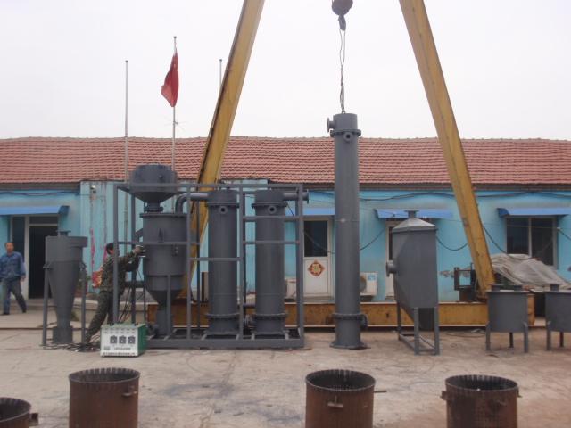 全新秸秆气化成套设备,秸秆气化设备产生蓝火-- 山东润华环保设备公司