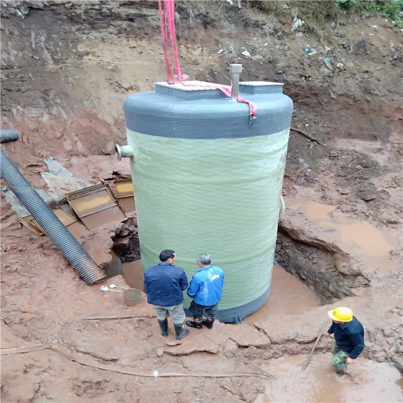 四川一体化玻璃钢泵站安装现场 星宝环保-- 重庆市星宝环保设备有限公司