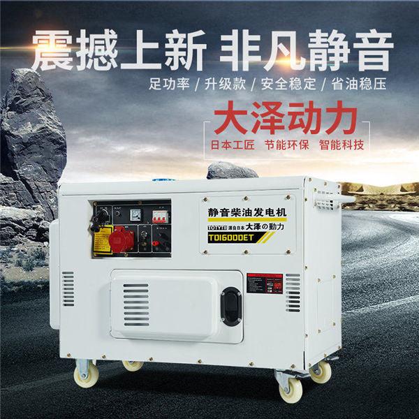 电启动静音12kw无刷柴油发电机组-- 上海豹罗实业有限公司