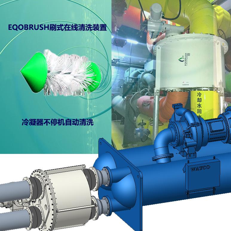 冷凝器除垢自动清洗设备EQOBRUSH在线刷洗装置-- 广州伟控商贸有限公司