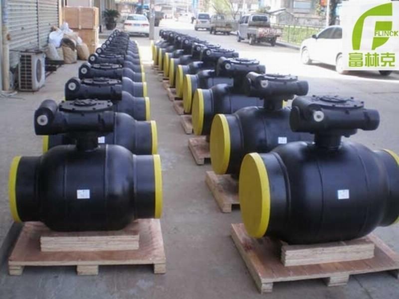 暖通系统 蜗轮全焊接球阀-- 富林克泵阀制造(上海)有限公司