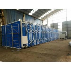 伟航涂装大型环保设备移动伸缩房可加工定制厂家