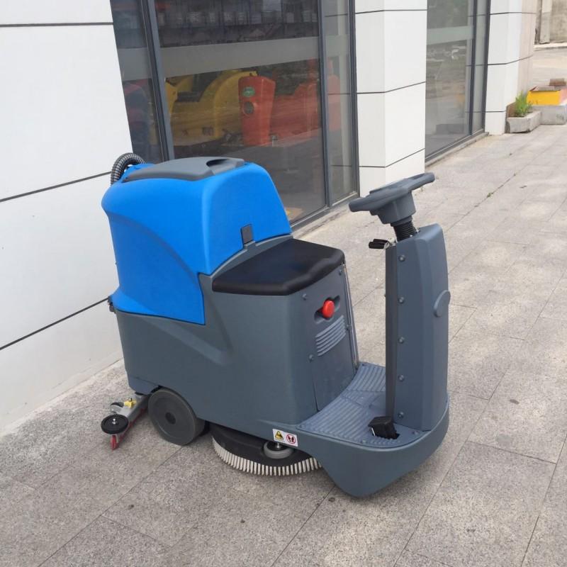 工业用电动座驾洗地机750型环氧地坪地下车库车间清洗车-- 山东豪沃工程机械有限公司