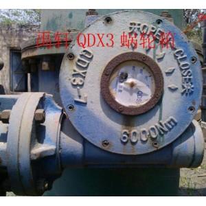 QDX3单级多回转型阀门驱动装置 禹轩蝶阀手动蜗轮箱