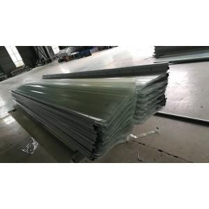 莱诺建材厂家直销788型带铁边1.5mm无色透明采光板