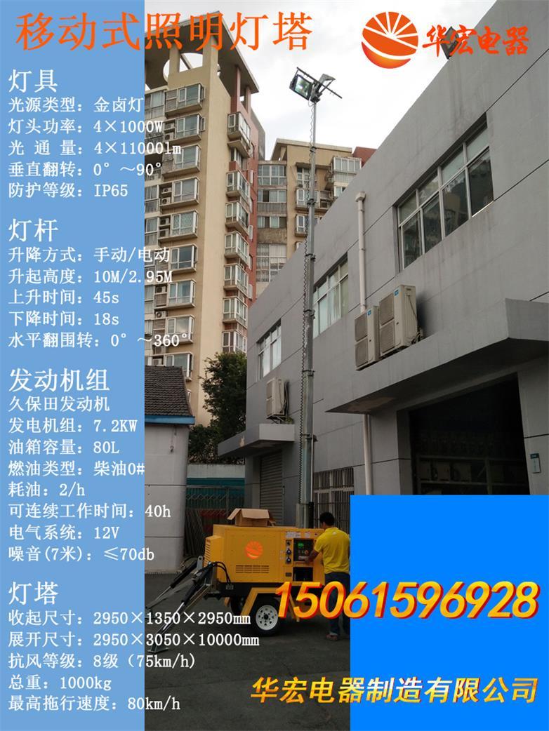 HMF961 4*200wLED户外移动照明车自动升降-- 宜兴市华宏电器制造有限公司销售部